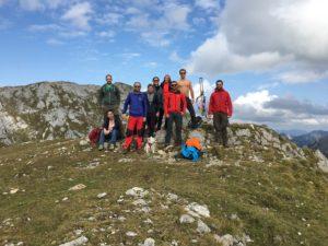 Gruppe auf Berg